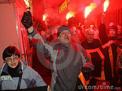 Anti-Kremlin rally in Moscow Editorial Stock Image