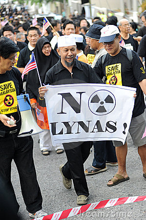 Anti-lynas Editorial Stock Photo