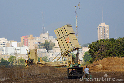 Anti-Missile System - Iron Dome Editorial Photo