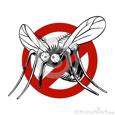 Free Anti Mosquito Sign Royalty Free Stock Image - 71725176