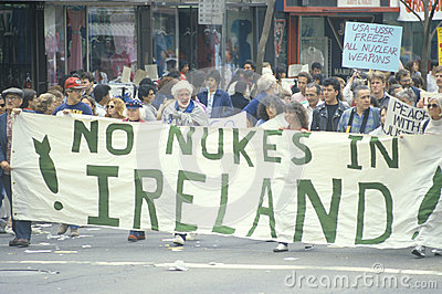 Anti-nuclear energy marchers Editorial Stock Image