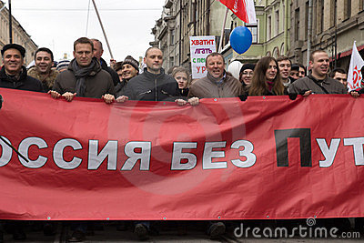 Anti-Putin Rally Editorial Stock Image