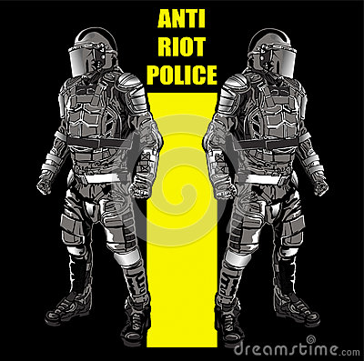 ANTI RIOT POLICE3 Stock Photo