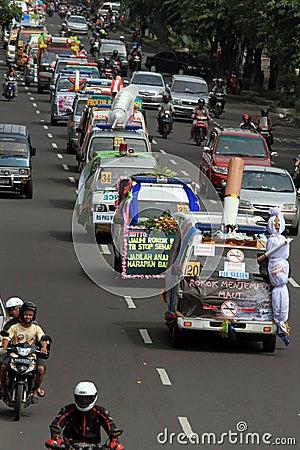 Anti-smoking campaign Editorial Stock Photo