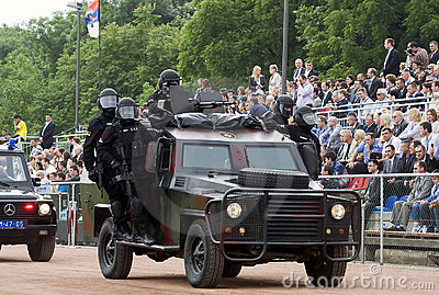 Anti-terrorist unit on parade Editorial Stock Photo