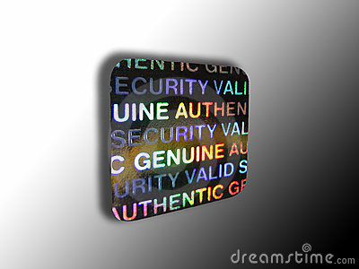 Anti-theft security halogram