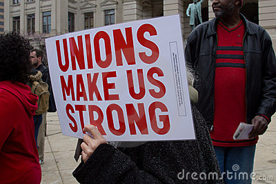 Anti Union Busting Rally Editorial Photo