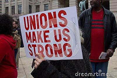 Anti Union Busting Rally Editorial Photo
