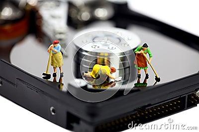 Anti-virus do computador e conceito da segurança.