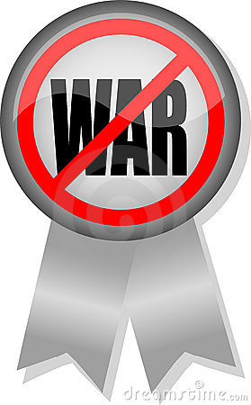 Anti-War Button Ribbon