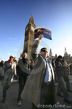 Anti-war demonstration in London Editorial Photo