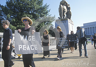 Anti-war protester Editorial Stock Photo