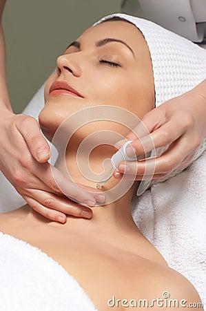 Free Anti-wrinkles Treatment Applying Stock Image - 4518551