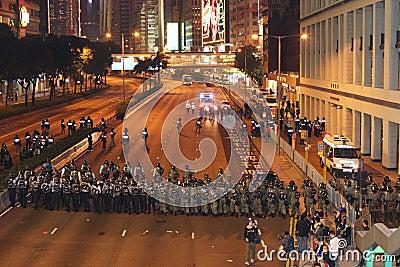 Anti-WTO Protests in Hong Kong Editorial Stock Image