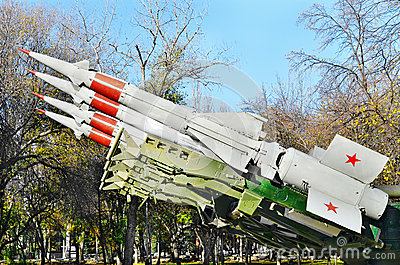Antiaircraft missile.Retro weaponry