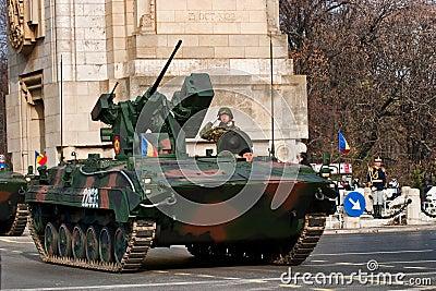 Antiaircraft tanks Editorial Photo