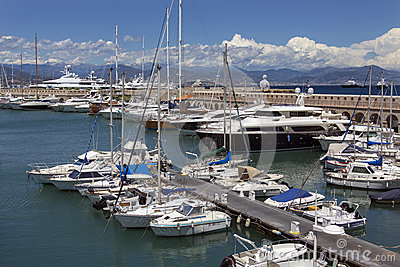 Antibes Harbor - French Riviera - South of France Editorial Stock Photo