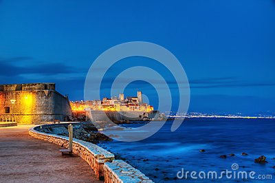 Antibes by night.