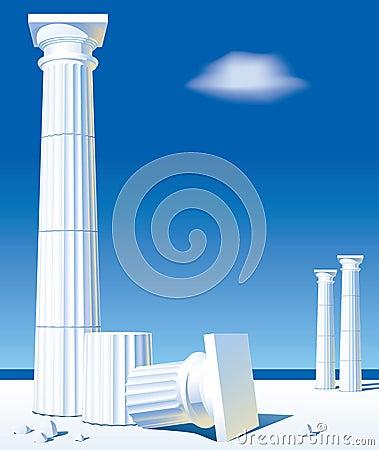 Free Antic Columns Royalty Free Stock Photo - 10356175