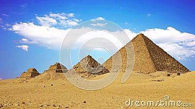 Antiche piramidi egiziane, simbolo dell'Egitto video d archivio