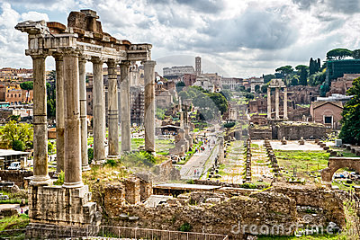 Antichità romana: Vista della tribuna romana