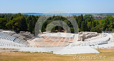 Antiek Grieks Theater en Ionische Overzees, Sicilië