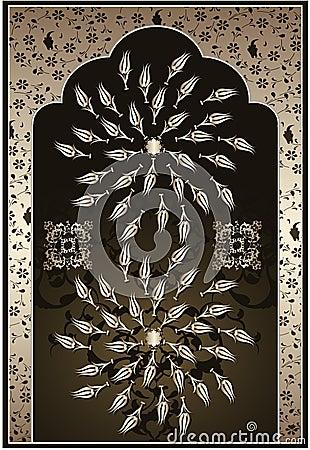 Antiek ottoman gouden ontwerp stock afbeeldingen afbeelding 9664064 - Pouf eigentijds ontwerp ...