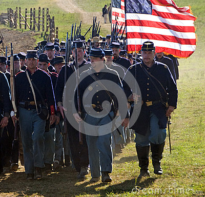 Antietam Reenactment September 15, 2012 Editorial Stock Photo