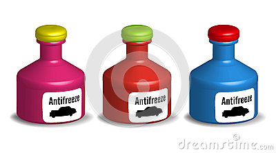 Antifreeze bottles