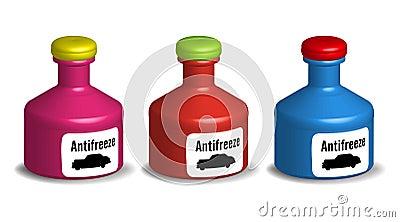 Antifreeze bottles