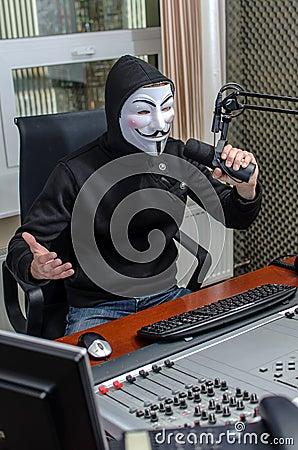 Antiglobalist on the radio