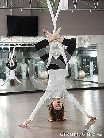 Free AntiGravity Yoga Royalty Free Stock Photos - 24629698