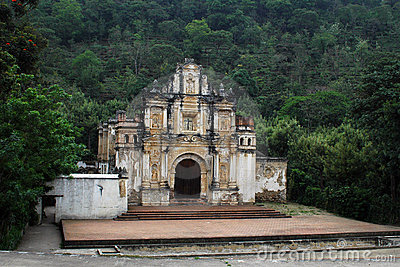 Antigua Guatemala Roadside Church