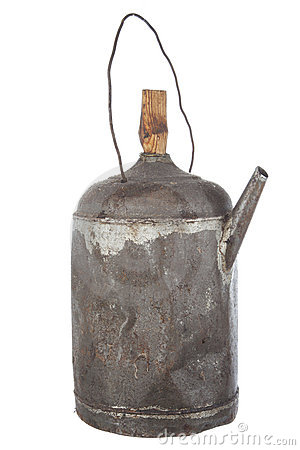 Antigue rusty old oil can