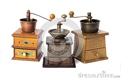 Antike Kaffeemühlen Stockfotografie - Bild: 38713552   {Kaffeemühlen 73}