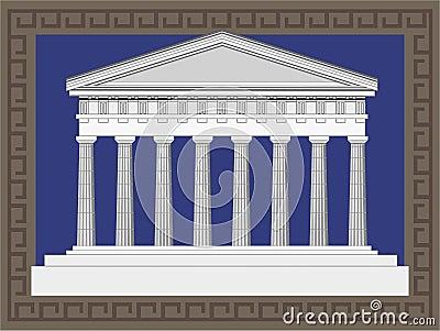 Antike Tempel-Fassade
