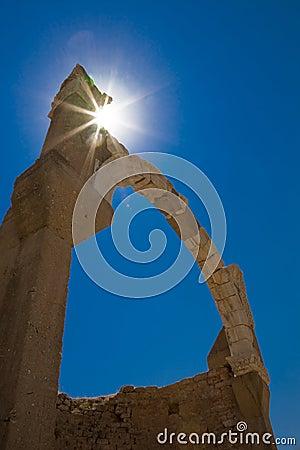 Antiker Lichtbogen, Ephesus, die Türkei