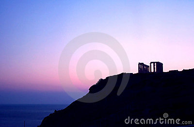 Antiker Sonnenuntergang