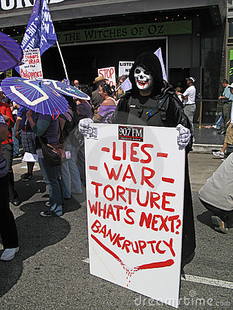 Antikriegsdemonstrationssystem Redaktionelles Stockfotografie