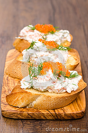 Antipasto Crostino with caviar