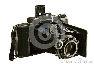 Antiquarian medium format camera