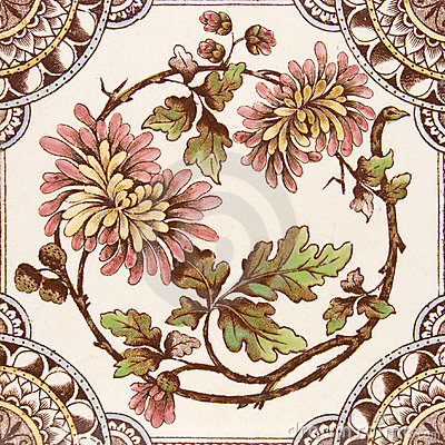 Free Antique Aesthetic Period Tile Royalty Free Stock Photography - 4022267