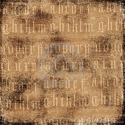 Antique Alphabet Background