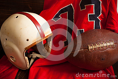 Antique American Football Equipment