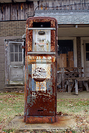 Free Antique American Gas Pump Stock Photo - 18885970