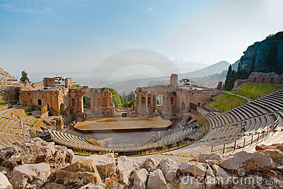 Antique amphitheater Teatro Greco, Taormina