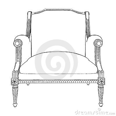 Antique Armchair Vector 07