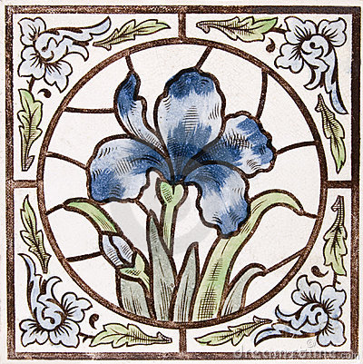 Free Antique Art Nouveau Tile Royalty Free Stock Images - 4022199