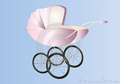 Antique baby girl buggy