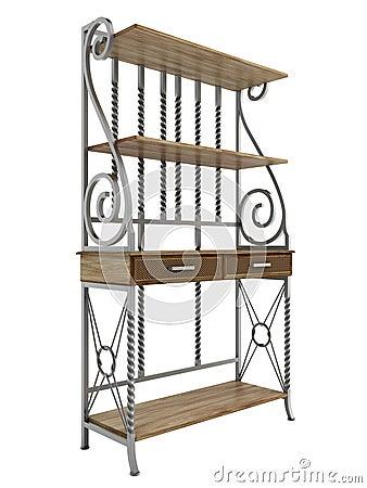 Antique bakers rack